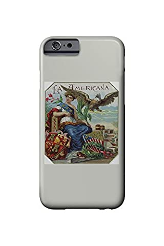 La Americana Brand Cigar Box Label (iPhone 6 Cell Phone Case, Slim Barely There)