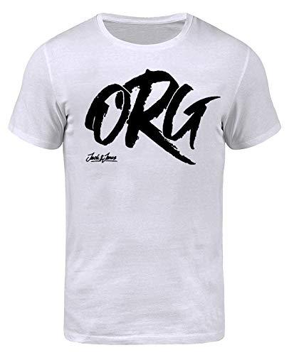 JACK & JONES Herren T-Shirt New Quay Tee Print (L, Weiß (Cloud Dancer Fit:REG jorARTIST))
