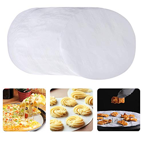 H.Yue Non-Stick Round Parchment Paper, 9 Inch Parchment Rounds Paper Baking Circles Cake Pan Liners for Baking Cakes, Cheesecake, Cooking, Air Fryer, Set of 150 (150 Pcs (White)) Cake Pan-liner
