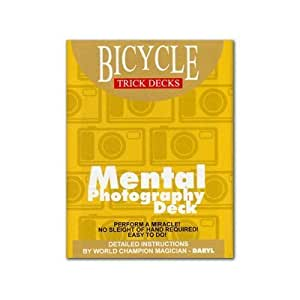 Mental Photo Deck Bicycle (Blue) - Trick by Murphys Manufacturing