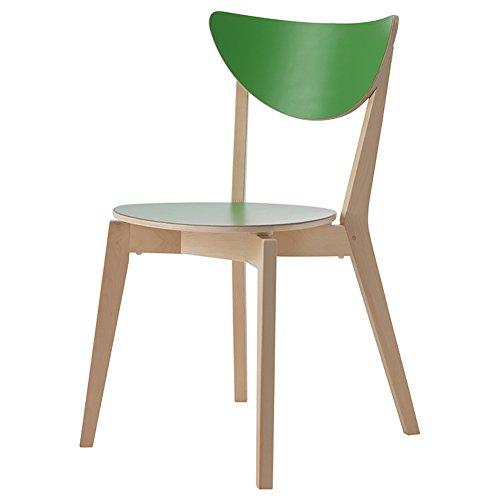 Mena Uk Pure Wood Chair, Birke Größe 45X15X45cm, BackChair Kreuz Stuhl Freizeit Stuhl Esszimmerstuhl - 3 Optionen (Farbe : Grün, größe : 44X45X80cm)