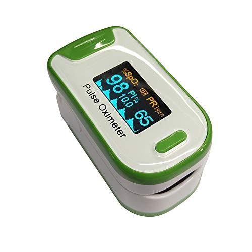 YUEHG Pulsioxímetro para Medir la Saturación de Oxígeno en la Sangre la Frecuencia Cardíaca Oxímetro con Pantalla OLED y Simple Operación de un Solo Toque,Green