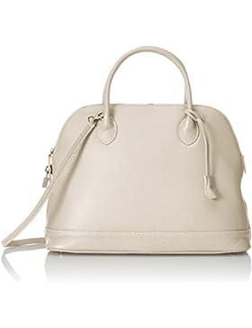 CTM Elegante Handtasche der Frau, die in weichen aus echtem italienischem Leder in Italien 40x30x15 Cm