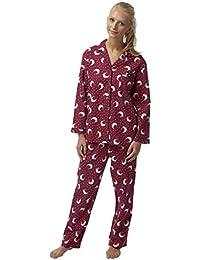 Ladies Indigo Sky Cotton Wincyette Robin Pyjamas ba6266ef9