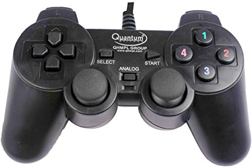 Quantum QHM7468 USB Gamepad with Dual Vibration  Black