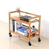 Scaffali e scaffali industriali d'annata della scaffalatura di 2 scaffali Scaffale mobile, di legno e del libro di legno, scaffali di esposizione di stoccaggio di isolato ( dimensioni : 52*30*55cm )