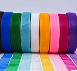 GADIA Satin Ribbons, 1/2-inch x10M Each, 100M (Multicolour) - Set of 10