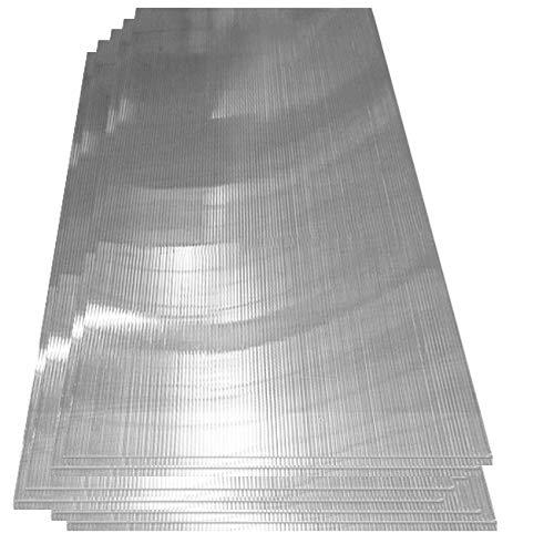 Deuba Hohlkammerstegplatten 14 Stück | 10,25 m² | Polykarbonat Doppelstegplatten | 1210 x 605 x 4 mm pro Platte | für Gewächshäuser und Gartenhäuser