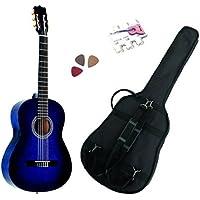 Pack Guitare Classique 1/2 Pour Gaucher (6-9ans) Avec 3 Accessoires (bleu)
