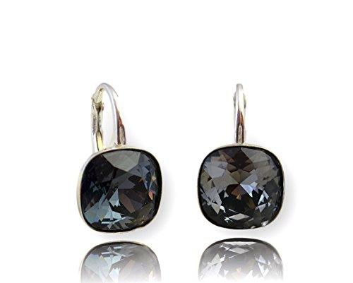 bdd54c153f03 Crystals   Stones  SQUARE   Muchos Colores  Plata 925 - Pendientes con  Cristales