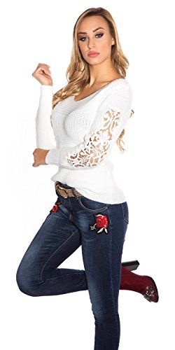 KouCla - Pull - Femme Taille unique blanc crème