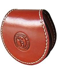 07b98f9a70 Tourbon Portamonete tondo 100% in vera pelle, realizzato a mano