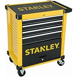 Carro de taller Stanley equipado con cuatro cajones y nueve módulos FMHT0-80442