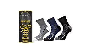 VaCalvers Mens Premium Cotton Ankle Socks (Naviya 3 Pairs _Black,Multicolor _Free Size)