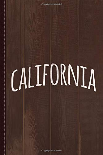 Hand California Journal Notebook: Blank Lined Ruled For Writing 6x9 120 Pages por Flippin Sweet Books