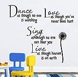Pegatinas de pared tallados con Daisy Dance Proverbios de poesía inglesa y la sala