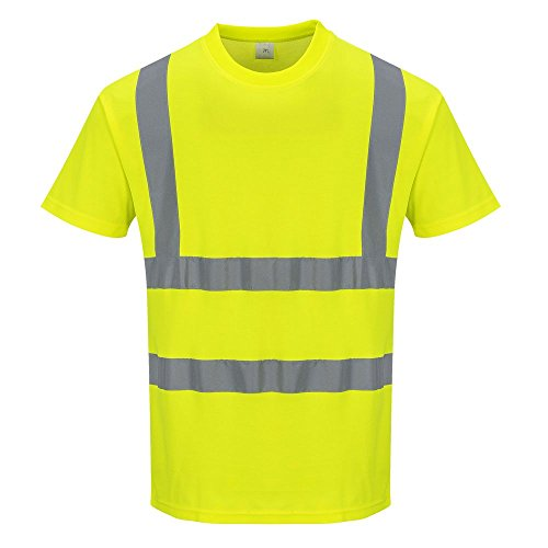 Portwest S170yerxl Coton Confort à manches courtes T-shirt, Regular, taille XL, Jaune