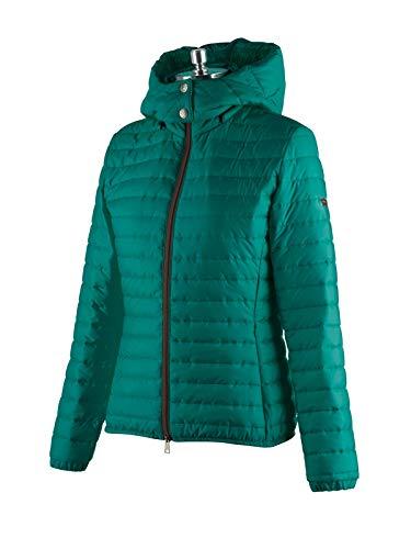 Animo Reitjacke Damen, leichte Jacke mit Kapuze, Modell Lod, Türkis Größe 38