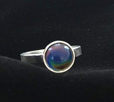 Mood Ring ou bague d'humeur en argent, bague, bague qui change de couleur, bague en argent, bijou en argent