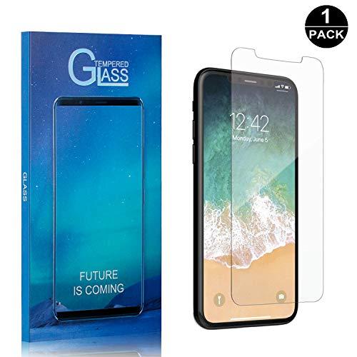 Bear Village® iPhone X/iPhone XS Displayschutzfolie, Anti-Fingerabdruck, Keine Luftblasen, Ultra-klar Hart Schutzfilm aus Gehärtetem Glas für Apple iPhone X/iPhone XS - 1 Stück