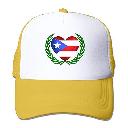 Puerto Rican Flag Olive Branches Mesh Women's Plain Trucker Baseball Cap Olive Womens Beanie