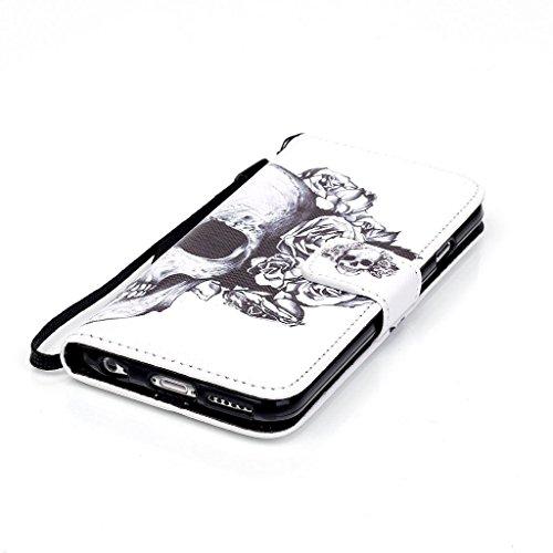CareyNoce PU Leder Wallet Case Folio Schutztasche für iPhone 6/6S Plus (5,5 Zoll) Tasche Hülle Handytasche Etui Schale Backcover Flip Cover im Bookstyle mit Standfunktion Kredit Kartenfächer (Haustier M04