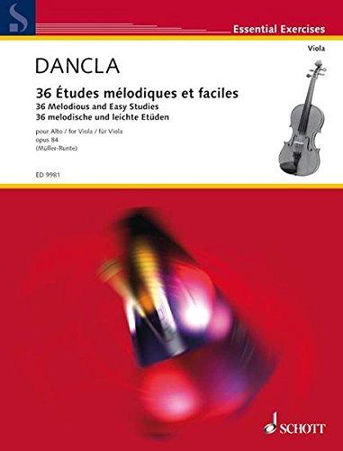 36 Etudes mlodiques et faciles, Op.84 : Viola solo / alto solo