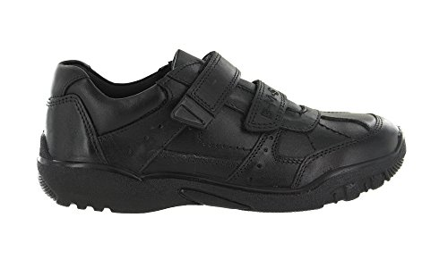 Buckle My Shoe Boys Black Real Leather Back to School Shoes UK...
