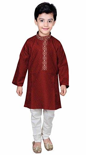 (Desi Sarees Jungen Sherwani Kurta Pyjama Bollywood Thema Eid Kostüm 928 (13 Jahr, Kastanienbraun))