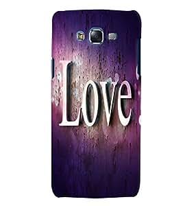 Fuson 3D Printed Love Designer back case cover for Samsung Galaxy J5 - D4476