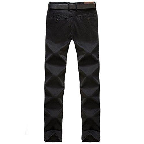 Honghu Herren Slim Fit Casual Neu Trend Regular Straight Jeans Hosen Schwarz
