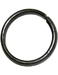 Ankita Gemstones Black Horse Shoe Iron Ring, Shani Chhalla, Kale Ghode Ki Naal Ring