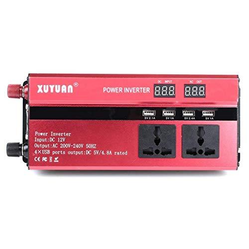 Hyzbpp 900W Solar Power Inverter DC 12V bis 220V AC Auto-Konverter Ladegerät-Adapter mit der International Universal-Outlet USB-Schnittstelle LCD-Anzeige, 12 V bis 220 V;550W