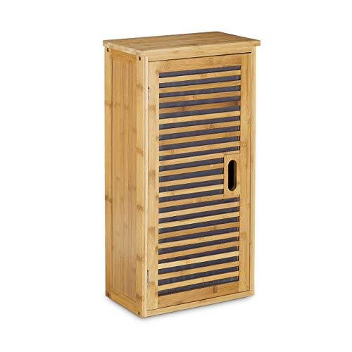 Relaxdays Badezimmerschrank aus Bambus - 66 x 35 x 20 cm