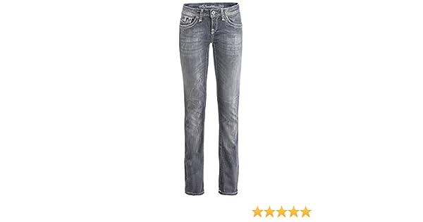 SOCCX Damen Jeans Straight Leg TA:YL:R112 Regular FIT LO
