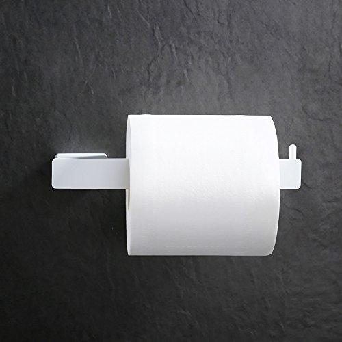 Homelody Weiß Toilettenpapierhalter SS304 Edelstahl beschichtet Lack Klopapierhalter Wandrollenhalter Rollen halter Klopapierhalter WC-Papierhalter ohne Deckel 180 * 30 * 65.5mm
