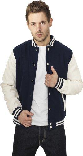 Urban Classics TB201 Herren Jacke Bekleidung Oldschool College Jacket Black-White