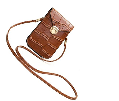 yozone-crocodile-pattern-pu-leather-mini-crossbody-single-shoulder-bag-cellphone-pouch-brown