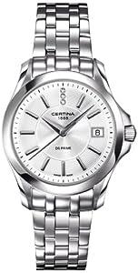Certina C004.210.11.036.00 - Reloj para mujeres, correa de acero inoxidable color plateado de Certina