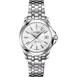 Certina C004.210.11.036.00 - Reloj para mujeres, correa de acero inoxidable color plateado