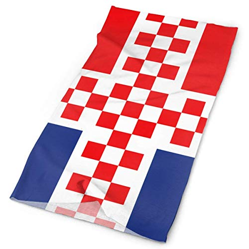 Wfispiy Flag of Croatia Iceland Headband Men Women Headwrap Magic Head Scarf Bandana...