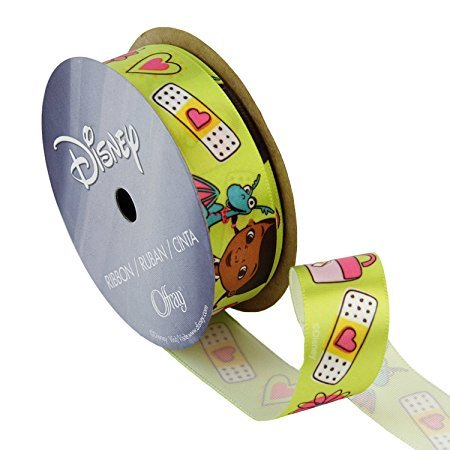 Zipperstop (Ship From USA) Offray Doc McStuffins Craft Ribbon, 7/8-Inch by 9-Feet, Medical Bag and Band-Aid / 7/8-Inch x 9-Feet Spool, Offray Item Number 944477, Contains one spool with one continuous length of r Offray Spool