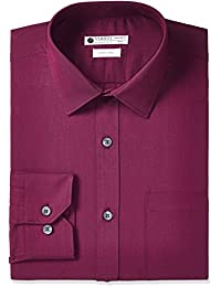 Amazon Brand - Symbol Men's Solid Regular Fit Full Sleeve Formal Shirt