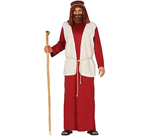 guirma Kostüm Hirte Presepe, Farbe Rot/Weiß, L (52-54), 41675