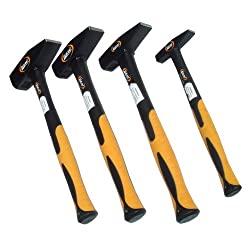 4 Hammer-Set 1 kg 500 g 300 g 100 g Schlosserhammer DIN 1041