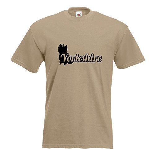 KIWISTAR - Yorkshire mit Name Terrier T-Shirt in 15 verschiedenen Farben - Herren Funshirt bedruckt Design Sprüche Spruch Motive Oberteil Baumwolle Print Größe S M L XL XXL Khaki