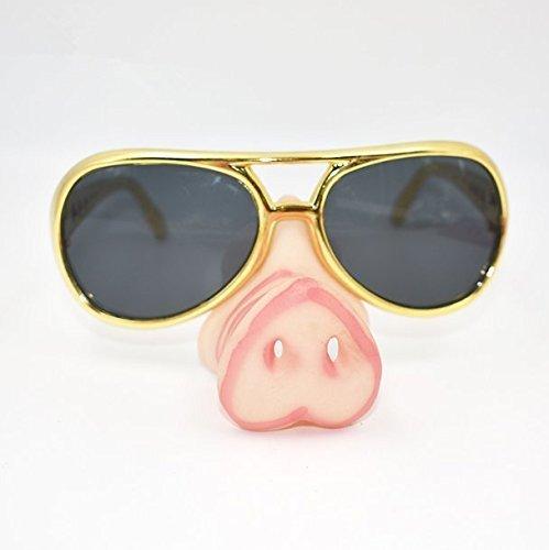 UChic 1 Stücke Schwein Nase Sonnenbrille Spezifikationen Rahmen Phantasie Schnauze Eye-Catching Party Brille Lustige Glas Kostüm Zubehör