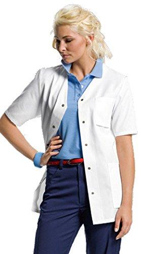 clinicfashion Kurzkasack weiß für Damen, Mischgewebe, Größe 32-58 Weiß