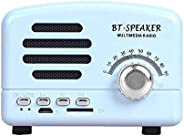 Wireless Bluetooth Speakers MEGACARE Portable Retro Bluetooth Speaker Built-In Mic USB Rechargeable Support TF