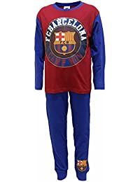 6-7 KIDS BOYS FOOT BALL CLUB PYJAMAS MANCHESTER UNITED F C BARCELONA 5-6 9-10